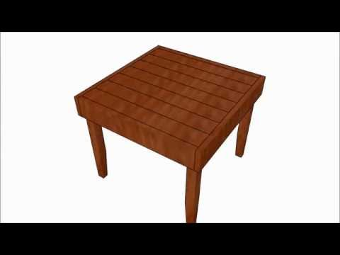 Deck Table  Plans