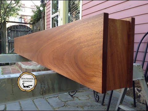 Woodworking:  DIY Mahongany Mantel //How-To Part 1