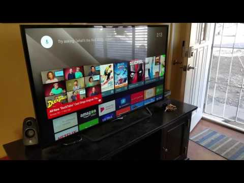 New Google Home  controlling Google play music on Sony Smart tv.