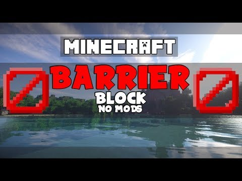 How To Get a Barrier/Invisible Block On Minecraft Console W/DOWNLOAD - WORKING!