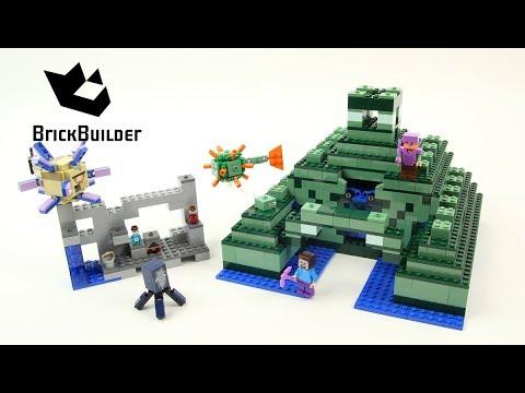Lego Minecraft 21136 The Ocean Monument - Lego Speed Build