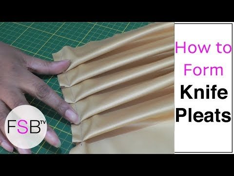 Forming Knife Pleats