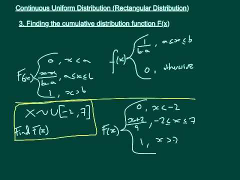 Finding E(X), Var(X) and F(x) of a CUD