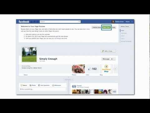 Facebook Company Page: Publish New Design | Gnome Tips