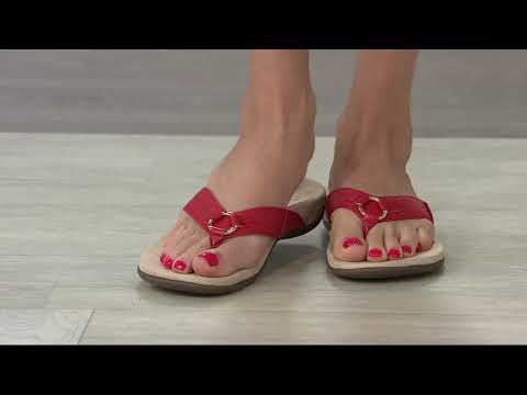 Vionic Thong Sandals with Ring Detail - Elena on QVC