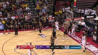 3rd Quarter, One Box Video: Los Angeles Lakers vs. Portland Trail Blazers