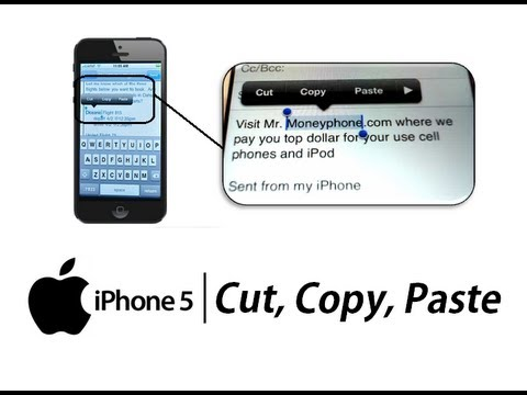 iPhone 5 - How to Cut Copy Paste Text - Apple iPhone 5 - Tutorial #04