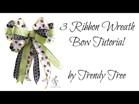 Make a Three Ribbon Bow by Trendy Tree