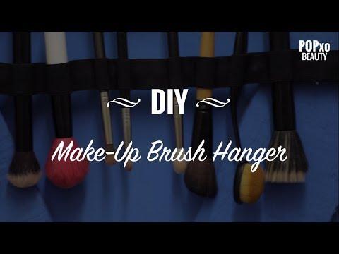 DIY Make-Up Brush Hanger - POPxo Beauty