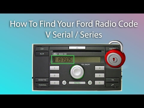 How To Find Your Ford Radio Code V / Series Unlock Radio Code