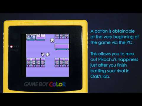 How To Max Out Pikachu's Happiness Very Quickly - Pokemon Yellow Glitch