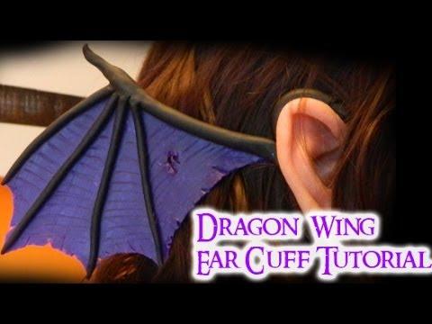 Dragon Wing Ear Cuff (2 different styles) Polymer Clay Tutorial / Arcilla Polimérica