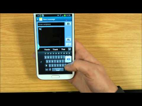 Galaxy Note 2 One Handed Keyboard Feature