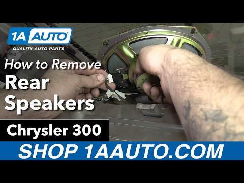 How to Replace Install Rear Parcel Shelf Speakers 2006 Chrysler 300