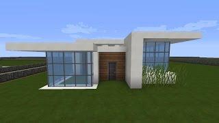 Minecraft Modernes Haus Schlicht Grauweiß Bauen Tutorial - Minecraft cooles haus bauen anleitung