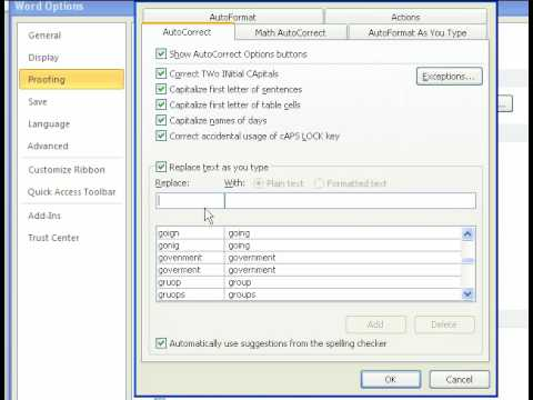 Excel Magic Trick 485: Create Shorthand to speed up typing using AutoCorrect