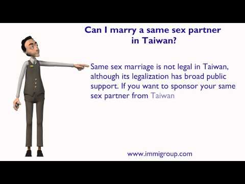 Can I marry a same sex partner in Taiwan?