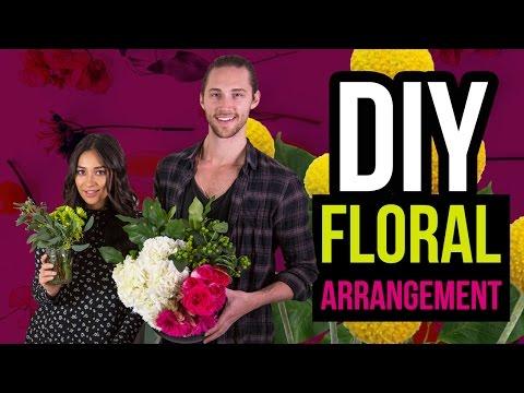 Easy Flower Arrangement DIY | Shay's Tutorials
