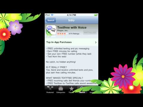 How to call and text for FREE with your Ipod Touch 4g.