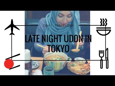 LATE NIGHT UDON NOODLES IN TOKYO DAY 1: TORONTO TO TOKYO