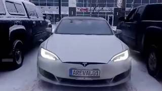 #16 Tesla Auto parking does an awesome job in the snow!