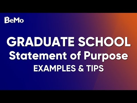 Graduate School Statement Of Purpose Example & Tips