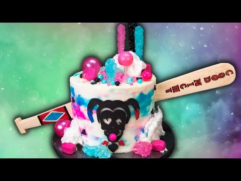How to Make a Harley Quinn Cake (Suicide Squad Cake) from Cookies Cupcakes and Cardio