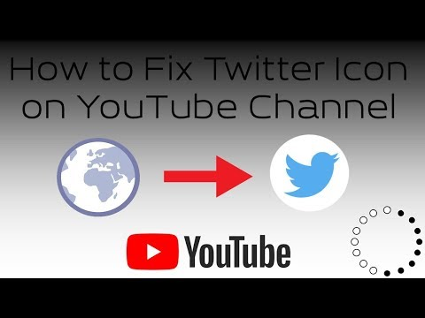 How to Fix Twitter Icon on YouTube Channel