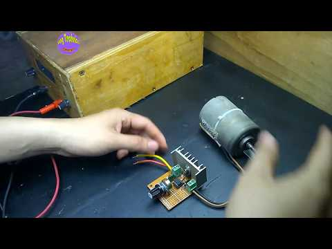 50A DC Motor Speed Control on Hole Board