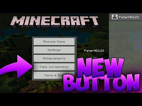 NEW SCREENSHOT BUTTON! - Minecraft PE (Pocket Edition)
