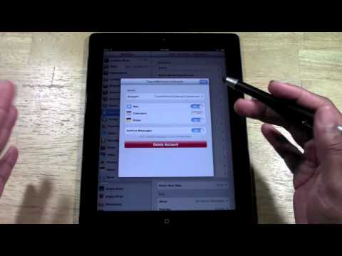 iPad: How to Delete an Email Account​​​ | H2TechVideos​​​
