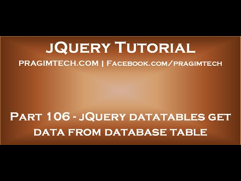 jQuery datatables get data from database table