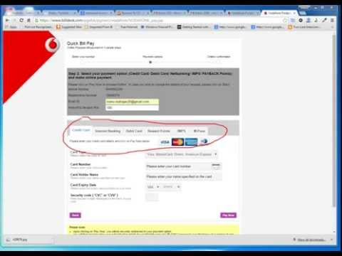 Pay Vodafone postpaid bill online