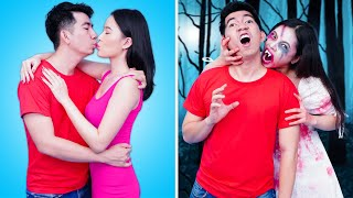 ZOMBIE VS HUMAN | Relatable Zombie Couple VS Human Couple | Funny Couple Situations We Can Relate To
