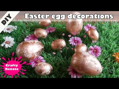 How to decorate Easter eggs - wooden Easter egg decorations