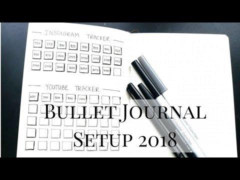 My Minimalist Bullet Journal Setup 2018 | Plan With Me | Jacqueline Wheeler