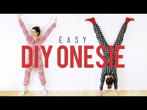 EASY DIY ONESIE! | THE SORRY GIRLS
