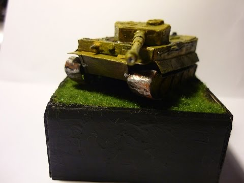 How to make paper Tiger I 1:100
