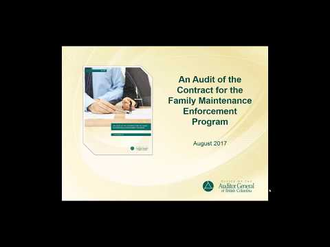 An Audit of the Contract for the Family Maintenance Enforcement Program