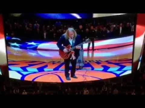 Warren Haynes Performs National Anthem (Knicks v. Cavs at Madison Square Garden)