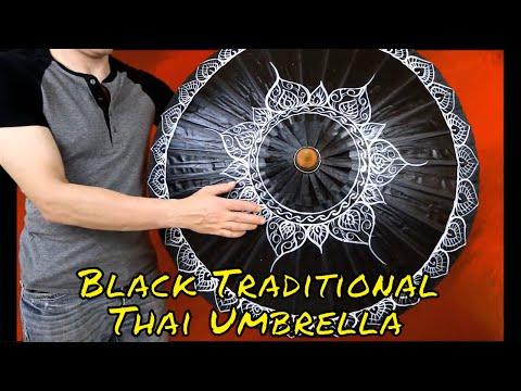 Black Traditional Thai Umbrella