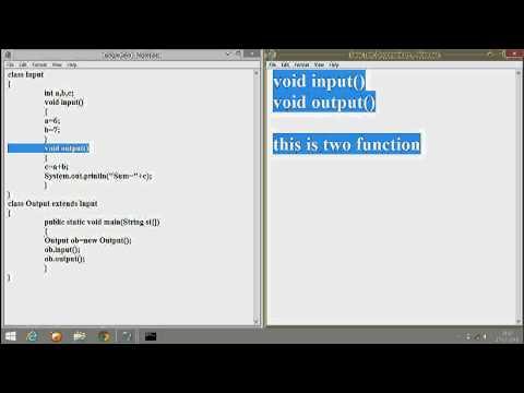 Single Level Inheritance In Java Program