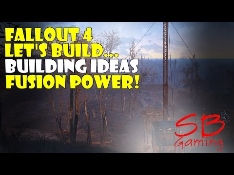 Fallout 4 Let's Build - Building Ideas - Fusion Generator - Concrete Pillar & Rug Glitch For The Win