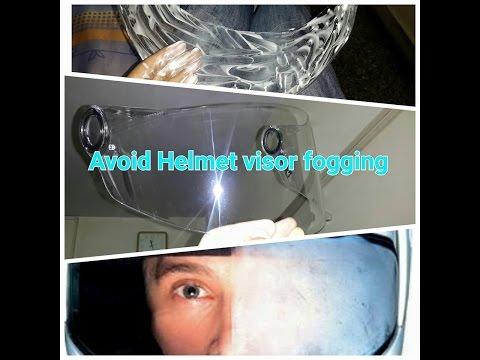 How to avoid getting Motorcycle helmet visor fogging up