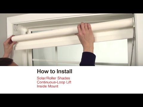 Bali Blinds | How to Install Solar/Roller Shades with Continuous-Loop Lift - Inside Mount