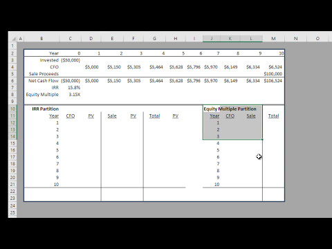 Real Estate IRR Partitioning in Excel Tutorial