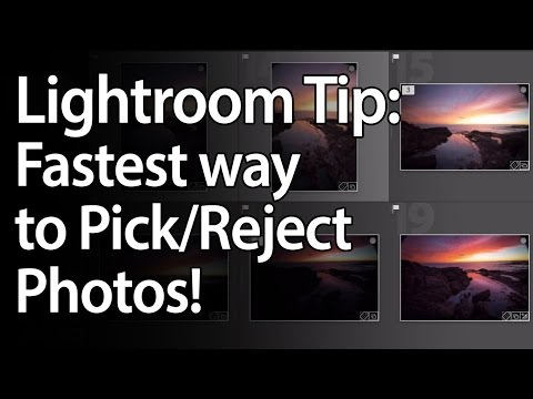Lightroom Tips: Pick & Reject Photos Fast!