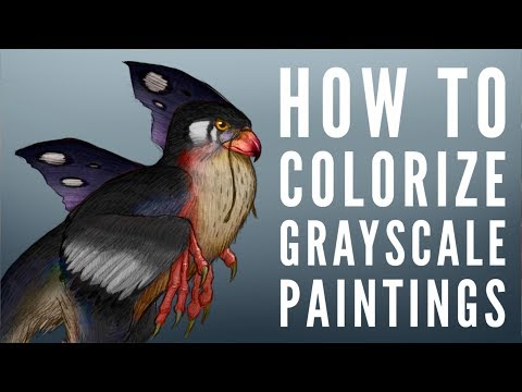 How to add color to a grayscale painting