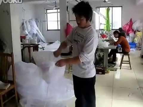 How to fold a hoop skirt crinoline petticoat 5