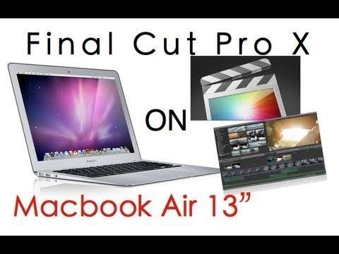 Final Cut Pro X on MacBook Air in 2017